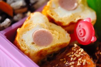 ソーセージ入り卵焼き