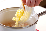 ジャガイモの豆乳スープの作り方1