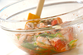 冷製ハモタコ明太パスタの作り方1