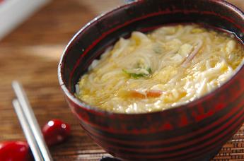 ふんわり卵入り素麺汁