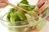 レタスとジャコのサラダの作り方2
