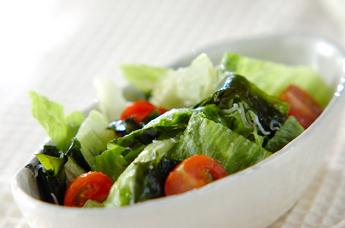 レタスとジャコのサラダ