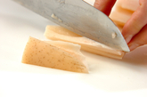 レンコンの塩きんぴらの作り方1