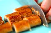 ウナ玉麦丼の下準備2