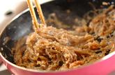 糸コンのめんたいこ炒めの作り方2