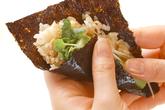 ブリの混ぜご飯手巻きの作り方4