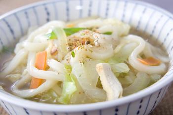 野菜スープうどん