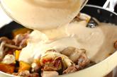 カボチャと鶏肉のクリーム煮の作り方4