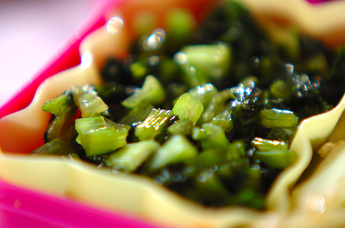 カブの葉の常備菜