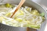 ゆでキャベツのサラダの作り方1