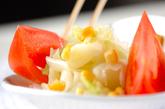 ゆでキャベツのサラダの作り方2