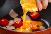 ハムの卵炒めの作り方2