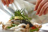 白身魚のパピヨットの作り方2