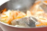 白身魚のパピヨットの作り方1