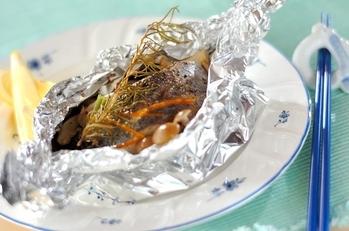 白身魚のパピヨット