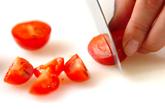 トロトロ卵とトマトのおかゆの下準備2