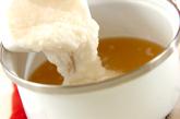 温泉卵入り冷やしとろろ汁の作り方1