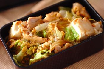 鶏と豆腐のチャンプルー