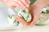 青菜入りおにぎりの作り方3