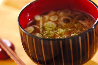 湯葉と温泉卵のお吸い物