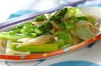 野菜のニンニク炒め