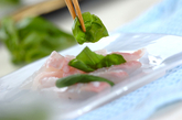 ヒラメのカルパッチョの作り方1