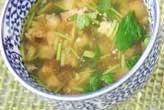 鶏ひき肉のスープ