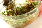 オクラ納豆のポン酢風味和えの作り方1