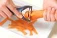 薄切りニンジンのマリネの下準備1