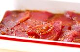 マグロの梅風味丼の下準備2