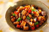 水煮大豆の煮物