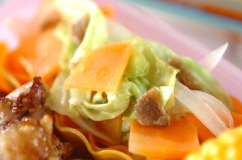蒸し野菜のアンチョビ風味