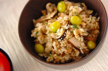 京のおばんざい 松茸の炊き込みご飯