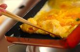 具だくさん卵焼きの作り方1