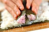 ハートの巻き寿司の作り方4