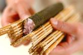 ハートの巻き寿司の作り方2