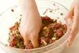 牛ひき肉ペッタンコ焼きの作り方1
