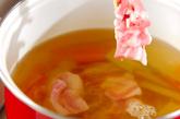 豚肉入りみそ汁の作り方2