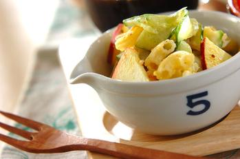 カレー風味のマカロニサラダ
