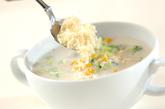 コーンとブロッコリーのスープの作り方2