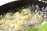 温泉卵のサラダの下準備2
