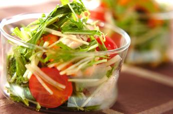 エビと冬野菜のサラダ