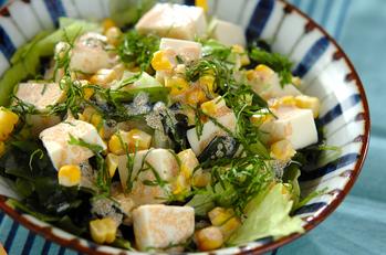 タラコマヨドレッシングのサラダ