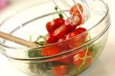 豆苗とトマトの中華和えの作り方2