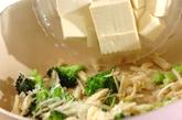 ブロッコリーと豆腐の塩炒めの作り方2