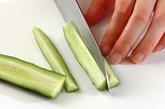 野菜のカッテージディップ添えの下準備1