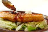 鮭のジンジャー照り焼きの作り方4