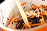 ヒジキとツナの炒め煮の作り方1