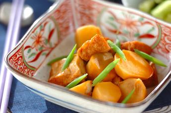 里芋と厚揚げのシンプル煮