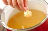 ウズラの卵入りワンタンスープの作り方2